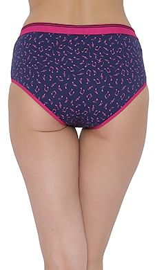 Back listing image for Cotton Mid Waist Printed Hipster Panty