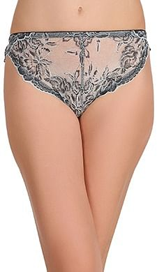 Front listing image for Lace Mid Waist Bikini Panty