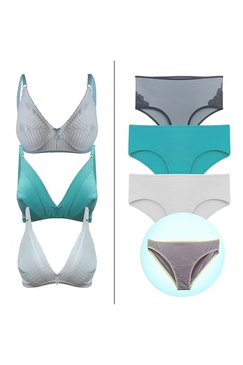 Front listing image for 7 Pc Bra-Panty Combo