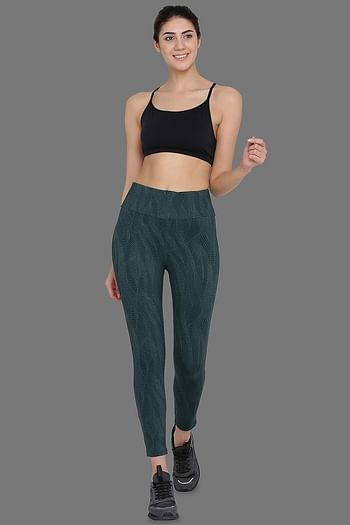 Front listing image for Activewear Gym/Sports Tights in Dark Green