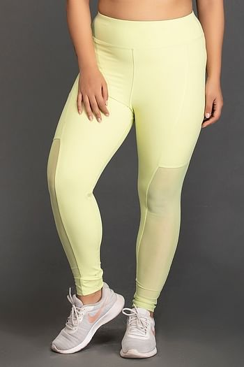 Front listing image for Activewear Gym/Sports Tights in Neon Green