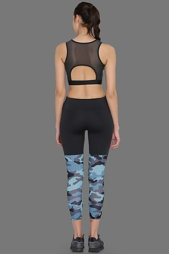 Back listing image for Medium Impact Padded Non-Wired Sports Bra & Tights in Grey