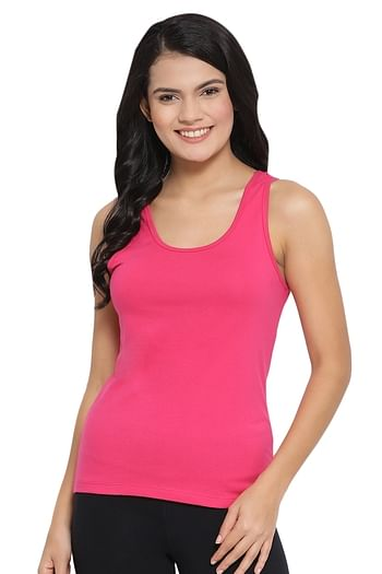 Front listing image for Cami Top in Dark Pink - Cotton