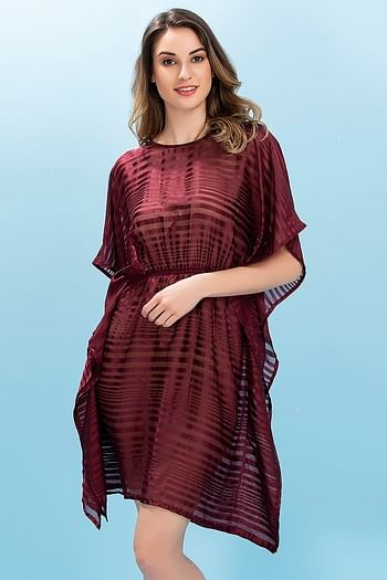 Front listing image for Chiffon Kaftan Style Beachdress
