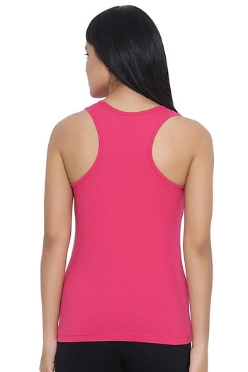 Back listing image for Cami Top in Dark Pink - Cotton