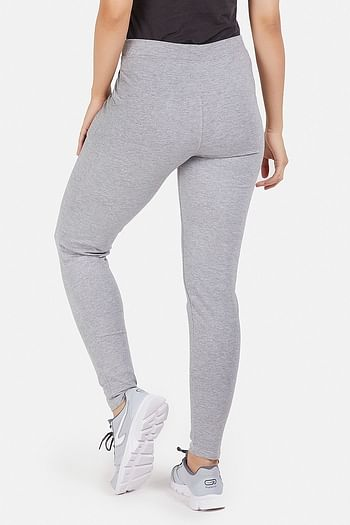 Back listing image for Grey Cotton Gym/Sports Activewear Tights