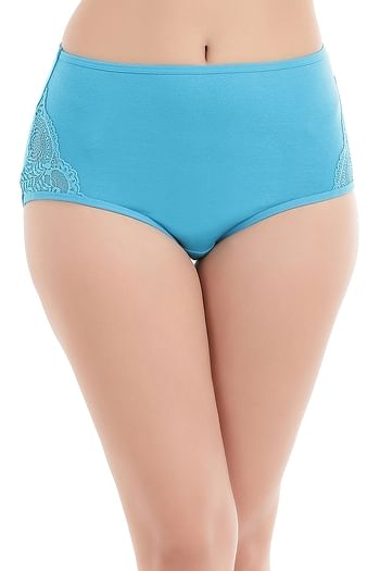 Front listing image for Cotton High Waist Hipster Panty with Lace Panel