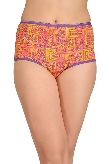 Front listing image for Cotton High Waist Printed Hipster Panty