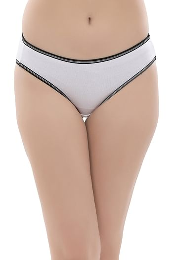 Front listing image for Cotton Low Waist Bikini Panty In White
