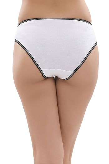Back listing image for Cotton Low Waist Bikini Panty In White