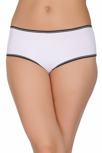 Front listing image for Cotton Mid Waist Hipster In White