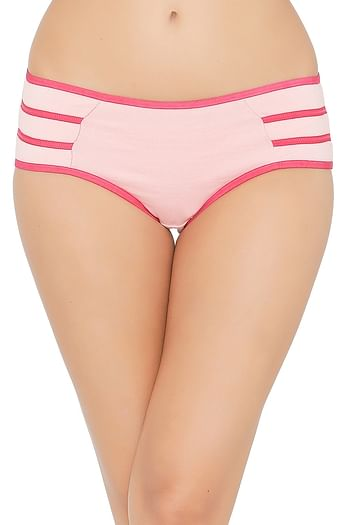 Front listing image for Mid Waist Hipster Panty with Contrast Trims - Cotton