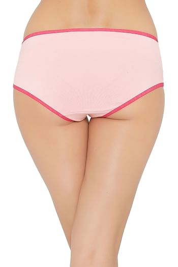 Back listing image for Mid Waist Hipster Panty with Contrast Trims - Cotton