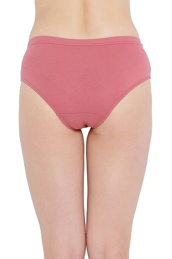 Back listing image for Cotton Mid Waist Hipster Panty with Inner Elastic