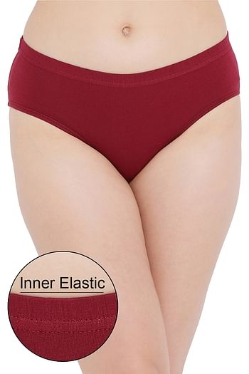 Front listing image for Cotton Mid Waist Hipster Panty with Inner Elastic