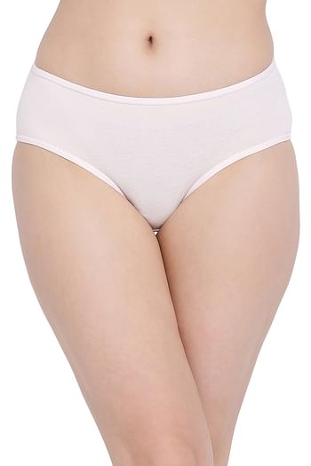Back listing image for Cotton Mid Waist Hipster Panty with Printed Back In White