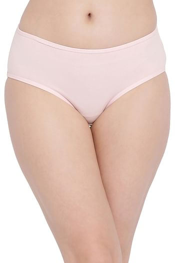 Back listing image for Cotton Mid Waist Hipster Panty with Printed Back In Pink