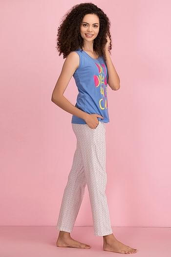 Back listing image for Cotton Printed Top & Pyjama Set