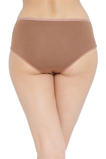 Back listing image for Cotton Mid Waist Hipster Panty In Brown