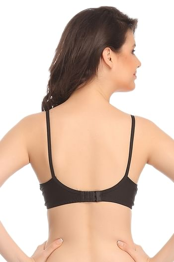 Back listing image for Cotton Rich Non Padded Wirefree T-shirt Bra In Black