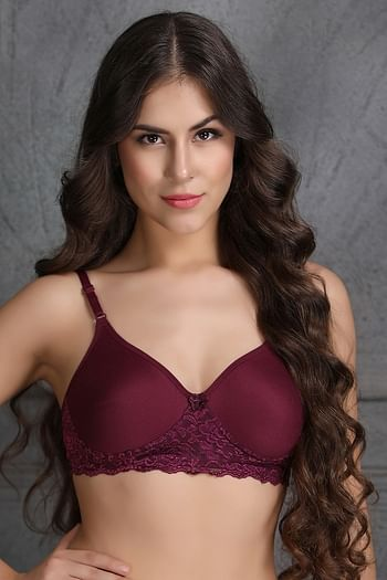 Front listing image for Cotton Rich Non-Wired Spacer Cup T-Shirt Bra
