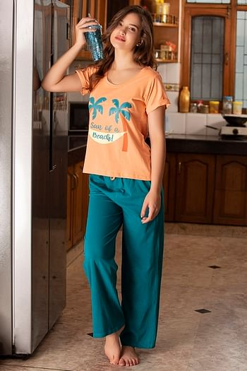Back listing image for Cotton Rich Printed Top & Pyjama