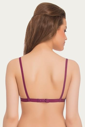 Back listing image for Cotton Soft Cup Bra In Purple