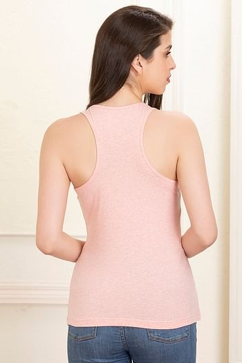 Back listing image for Cotton Tank Top In Pink
