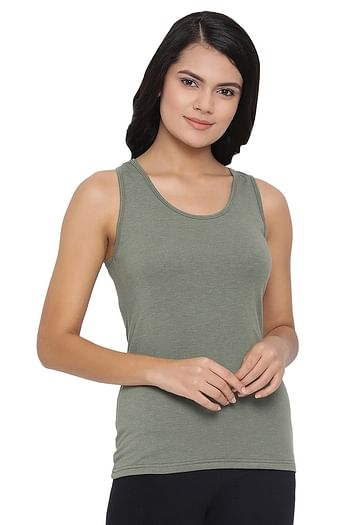 Front listing image for Cotton Tank Top with Racerback