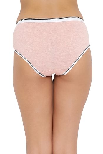 Back listing image for High Waist Hipster Panty in Peach - Cotton