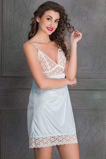 Back listing image for Lacy Blue Sexy Nightwear