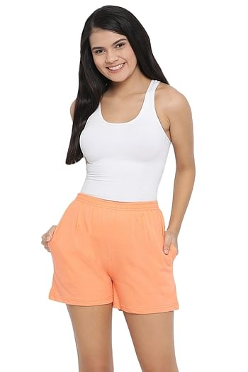 Front listing image for Cotton Rich Boxer Shorts In Peach