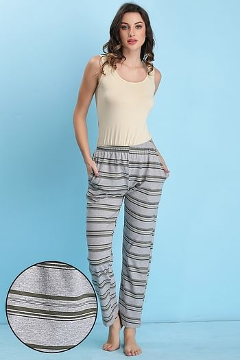 Front listing image for Cotton Rich Striped Pyjama