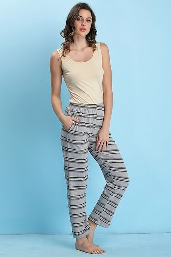 Back listing image for Cotton Rich Striped Pyjama