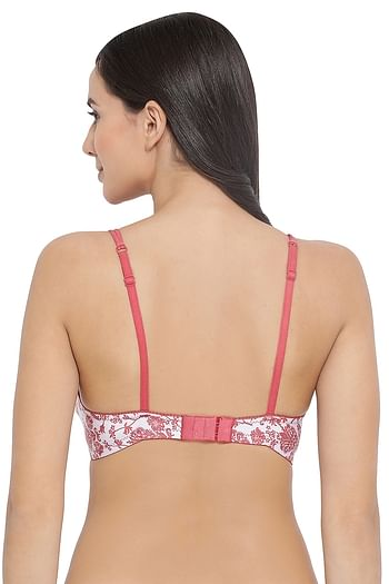 Back listing image for Lightly Padded Non-Wired Floral Print T-Shirt Bra