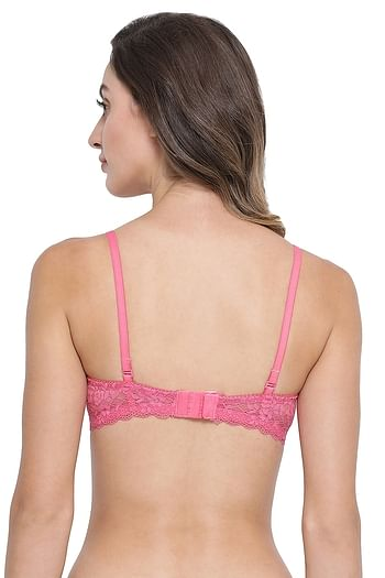Back listing image for Lightly Padded Underwired Star Print Multiway T-Shirt Bra In Pink