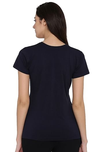 Back listing image for Printed Top in Navy - Cotton