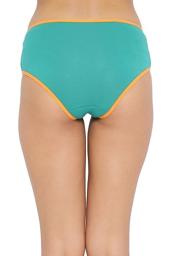 Back listing image for Mid Waist Hipster Panty in Dark Green - Cotton