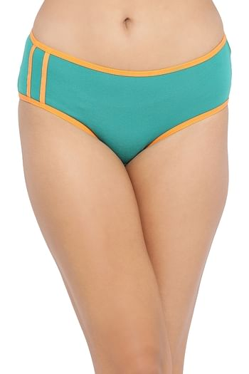 Front listing image for Mid Waist Hipster Panty in Dark Green - Cotton