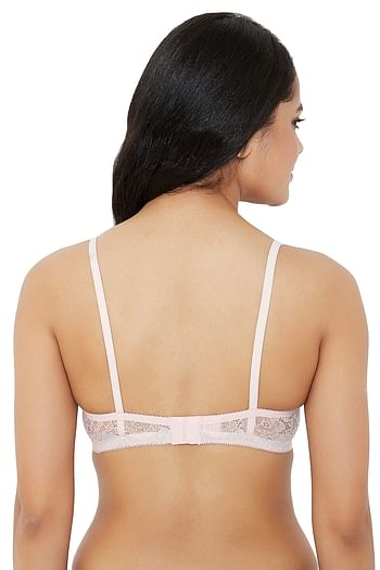 Back listing image for Non-Padded Underwired Bridal Bra in Light Pink - Lace