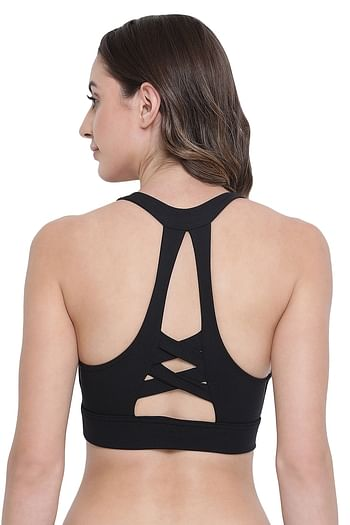 Back listing image for Medium Impact Padded Non-Wired Sports Bra
