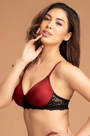 Back listing image for Padded Non-Wired Multiway T-Shirt Bra with Lace Wings