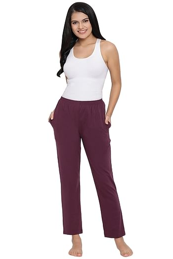 Front listing image for Pyjama in Purple - Cotton Rich