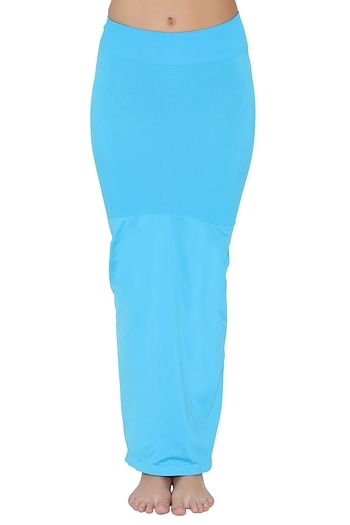 Front listing image for Saree Shapewear in Light Blue with Side Slit