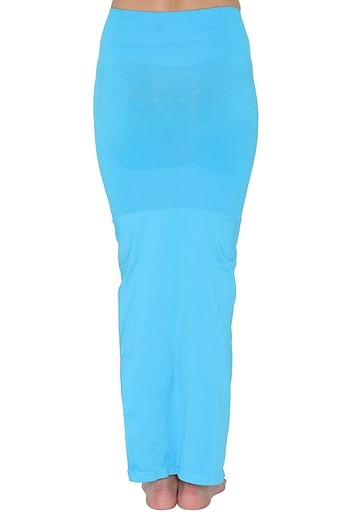 Back listing image for Saree Shapewear in Light Blue with Side Slit