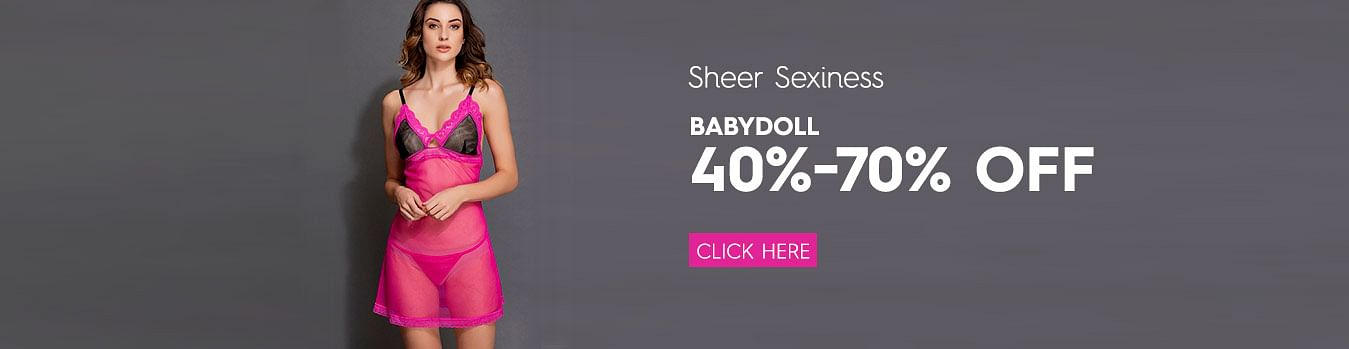 Sexy Nightwear- Babydoll 40 - 70% Off