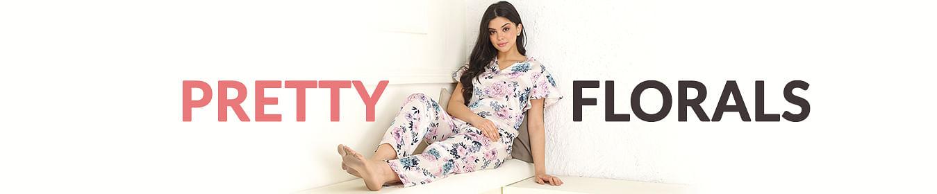 Floral Print Nightwear