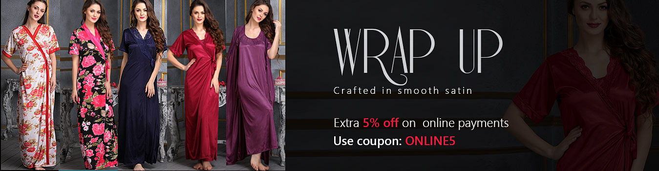 Robes, Wraps, Sleepwear for Women Online Shopping - Clovia
