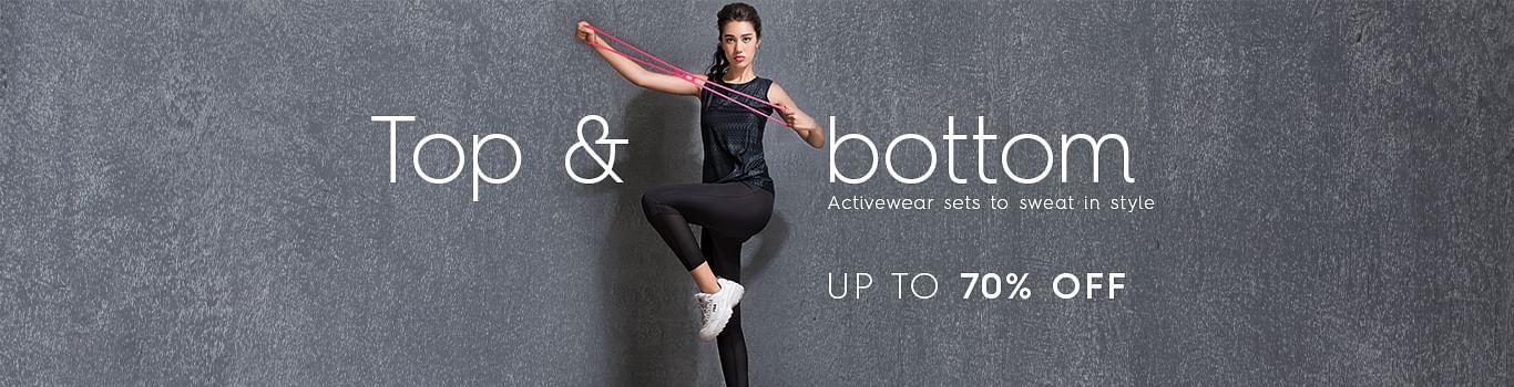 Women Sports Top & bottom Shopping