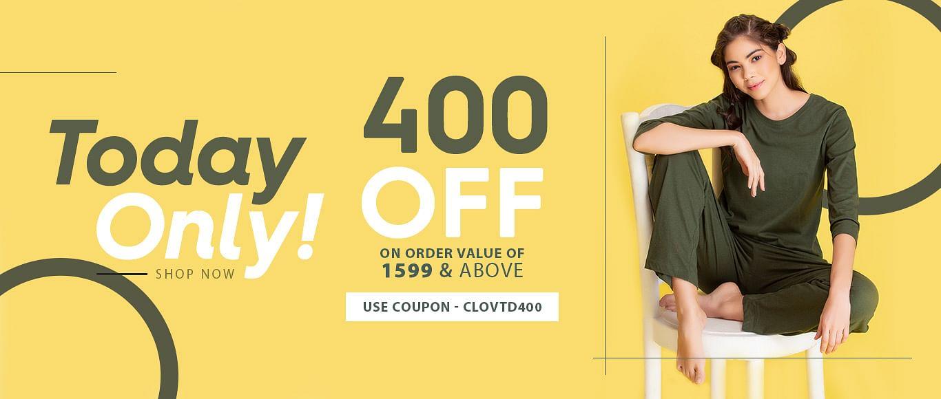 clovia.com - Flat ₹400 Off on all products